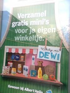 actie Albert Heijn, winkeltje spelen
